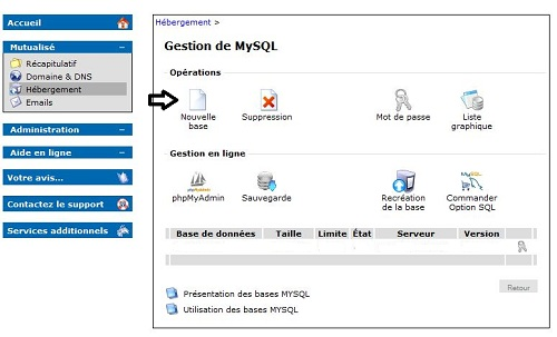 capture gestion de MySql