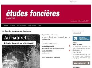 capture du site de la revue études foncières
