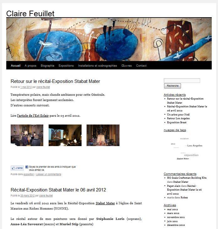 Blog de la plasticienne Claire Feuillet