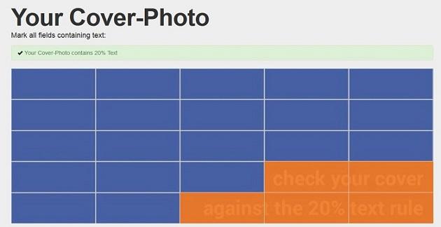 Comment vérifier que votre couverture FaceBook ne contient que 20% de texte ?