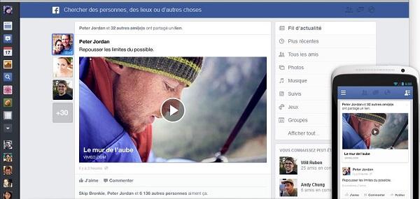 FaceBook relooke son fil d'actualités