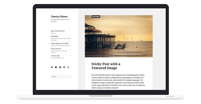WordPress 4.1 livre Twenty Fifteen, nouveau thème par défaut