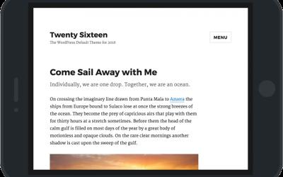 Sortie de WordPress 4.4 et de Twenty Sixteen, nouveau thème natif