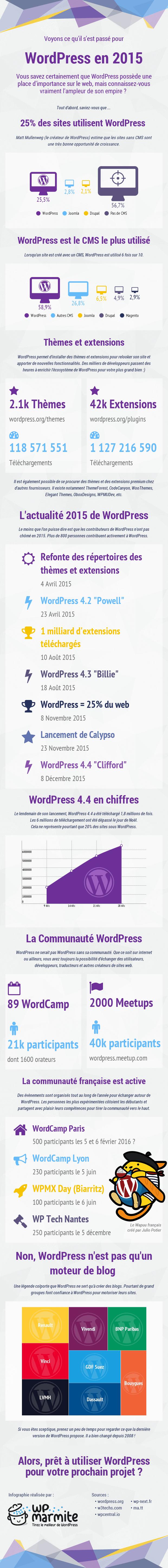 Infographie WordPress 2015 par WP Marmite