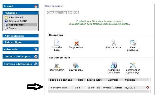 capture gestion mysql validation