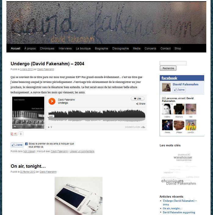 Le site de David Fakenahm