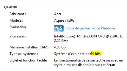 32 ou 64 bits Windows