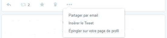 épingler un tweet