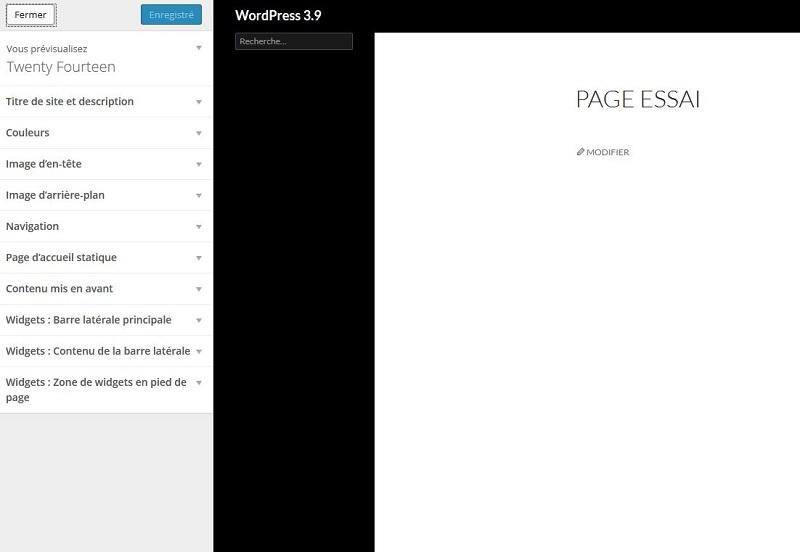 personnalisation widgets WordPress 3.9