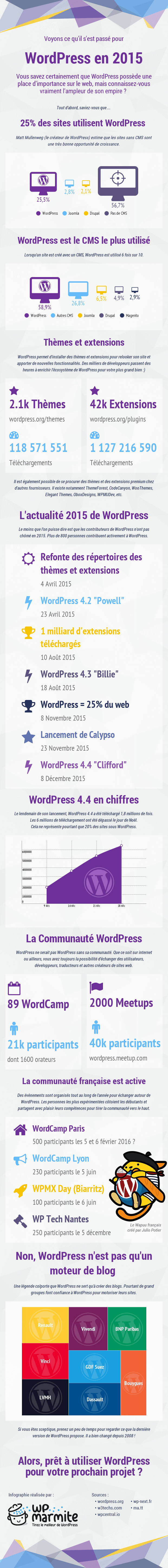 Infographie WordPress 2015 par WP Marmite