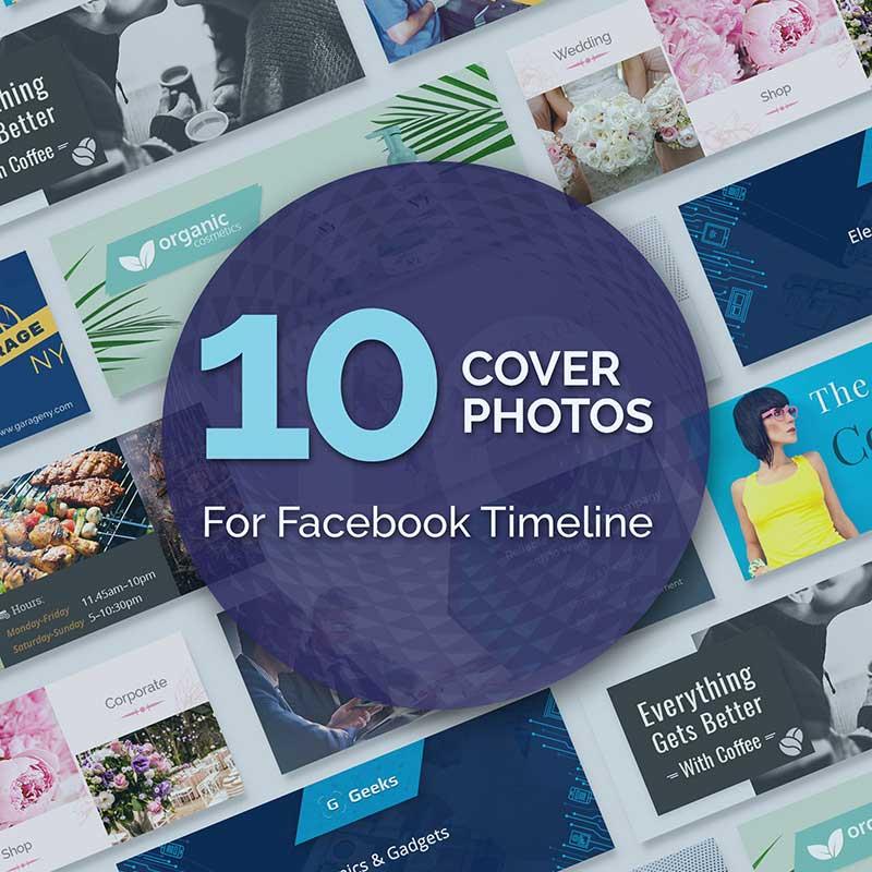 Modèles pour Facebook. 10 photos de couverture pour Facebook Timeline