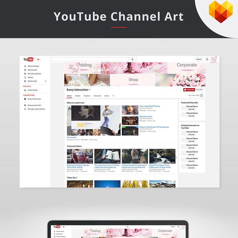 Modèle de couverture YouTube pour magasin de mode