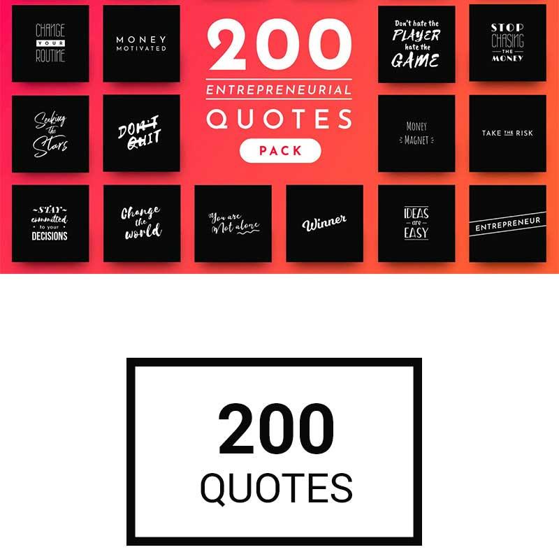 200 Citations entrepreneuriales prêtes à l'emploi pour médias sociaux