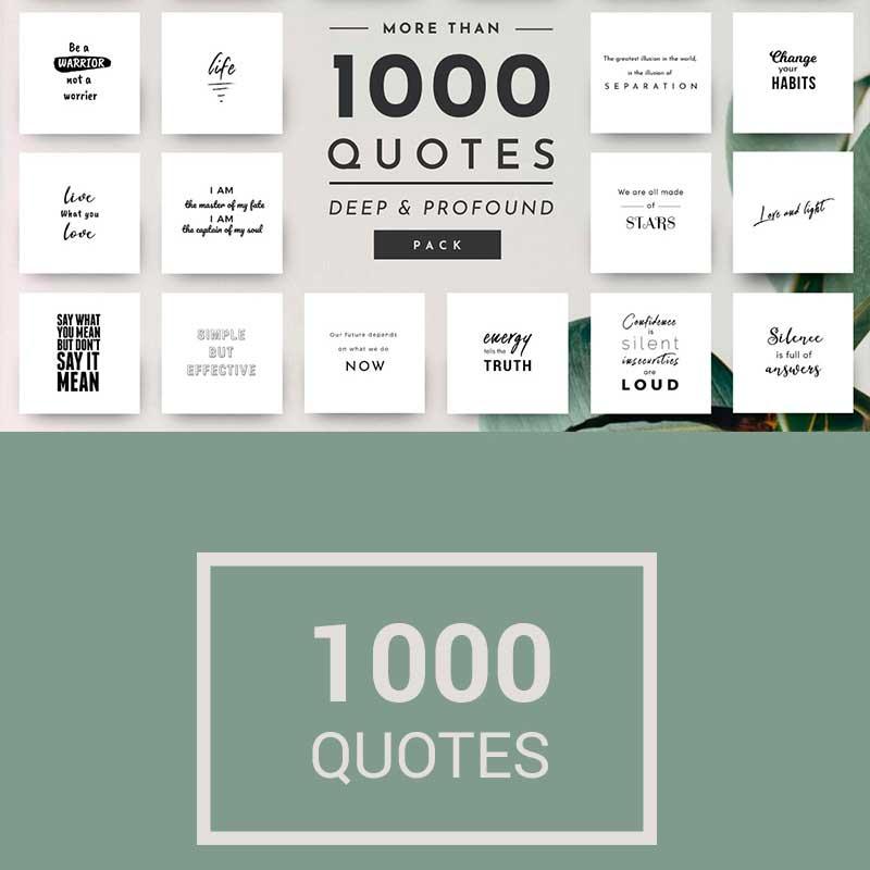 1,000 Citations uniques et élégantes pour médias sociaux